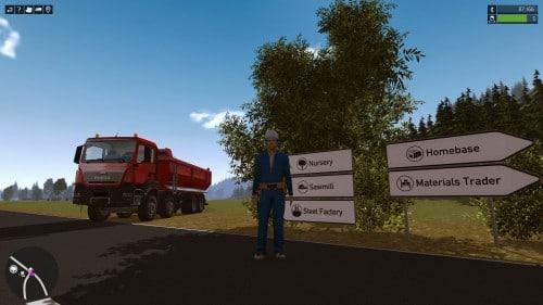René a un gros camion et un tout petit... retard.