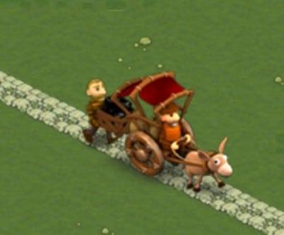 Le mec devant conduit une charrette vide tandis que celui de derrière porte un panier de charbon. L'avait qu'à être moins pauvre, d'abord...