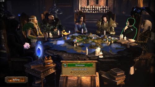 Même si c'est figé, l'écran de sélection des campagnes d'Heroes VII en jette!