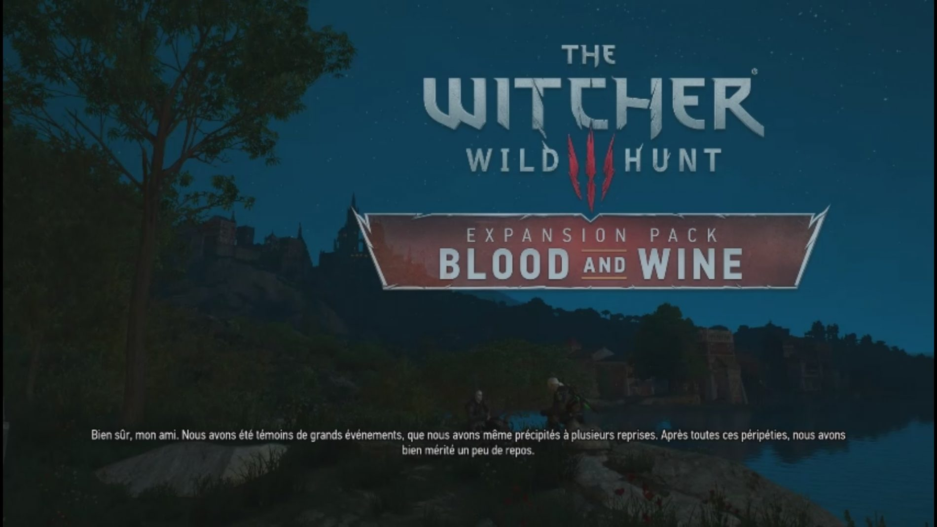 The Witcher III : Blood and wine
